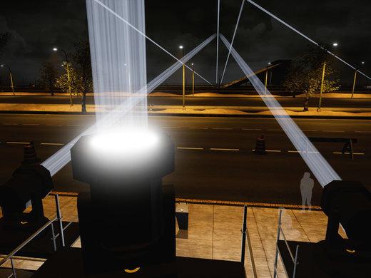 'Border Tuner' lights up the night sky