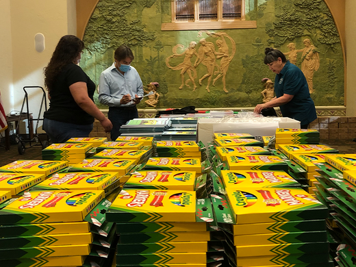 The School Store distributes 1,200 backpacks to students in need